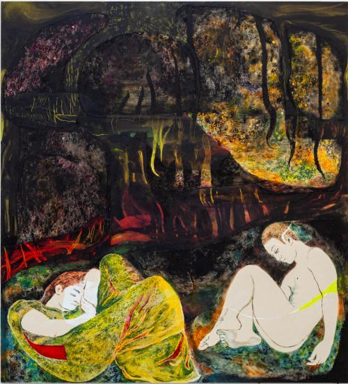 The Sleepwatchers, 2021, Oil and Acrylic on Canvas, 160x140 cm-