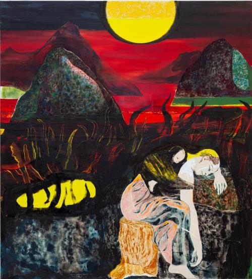 The Sleepwatchers, 2021, Oil and Acrylic on Canvas, 160x140 cm