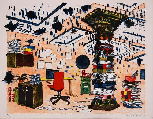 The-Office  2014.-Litograph.38x47cm