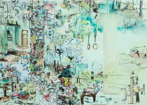 Al Koedets Gang-Oil-on-Canvas 200x280cm