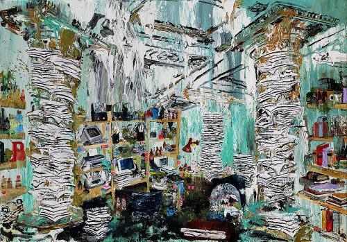 Oil-on-canvas Vakuum 90x130cm