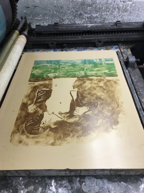 Lithography Workshop Atelier Clot, Bramsen og Brunholt, Paris 2019