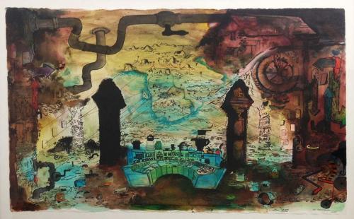 Ink-on-paper.-2015.Landkort.60x100cm