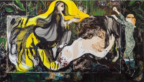 Kryptomanian Mermaid, 2021, Oil and Acrylic on Canvas, 190x340 cm-