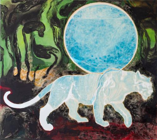 Portal1, 2021, Oil and Acrylic on Canvas, 170x190 cm