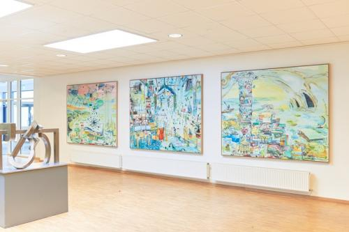 installation view Rosborg Gymnasium